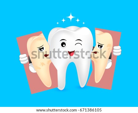 cute cartoon whitening tooth
