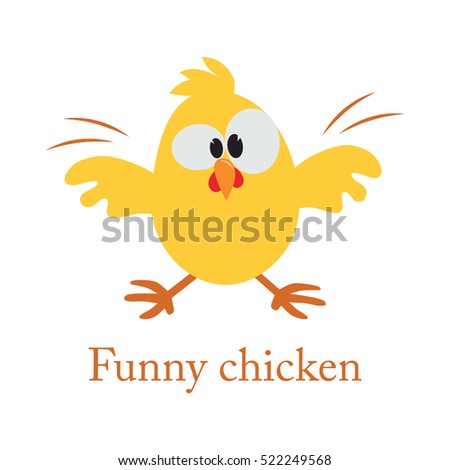 cute cartoon yellow chicken