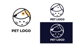 cute cat and dog Logo can also for pet logo, home pet, pet shop, dog care, cat care, cat lover, veterinary in design with full color, black and white color,eps 10 vector