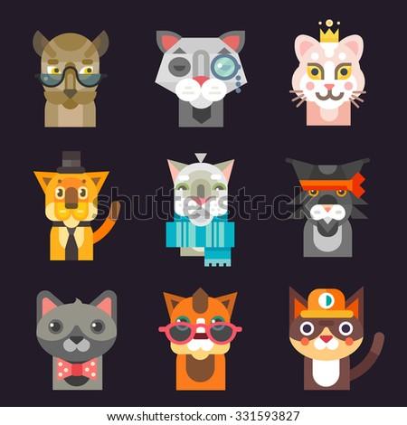 cute cat avatar illustration