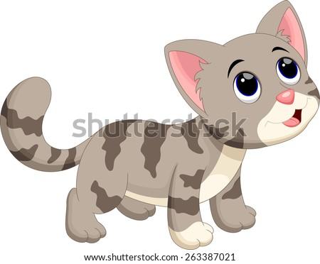 Cute cat cartoon #263387021