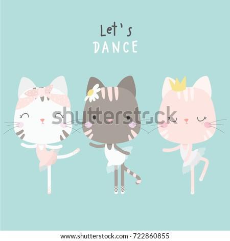 cute cat dance