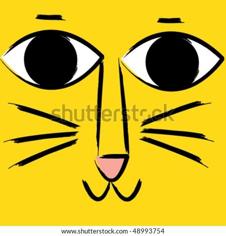 cute cat face 1