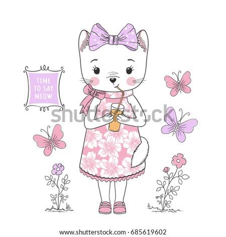cute cat girl little kitty