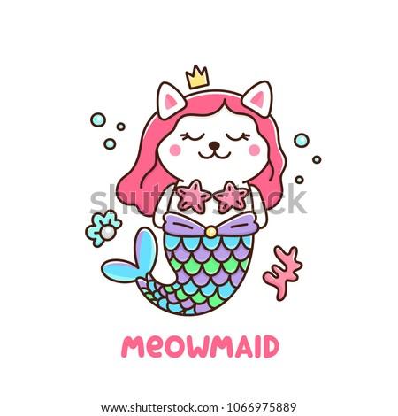 cute cat in a mermaid costume