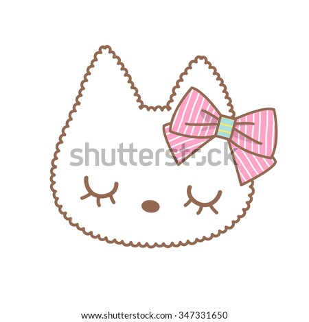 cute cat kitten pet  vector