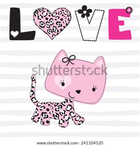 cute cat love card t shirt