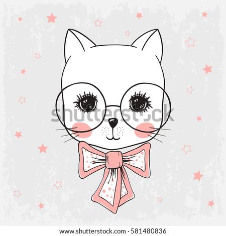 cute cat  portrait little kitty