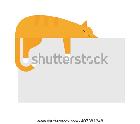 cute cat sleeping on platform