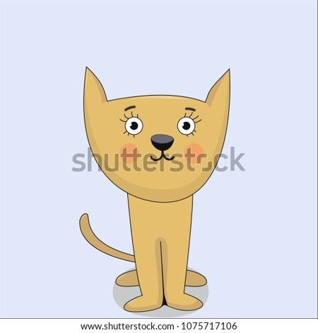 cute cat vector artwork