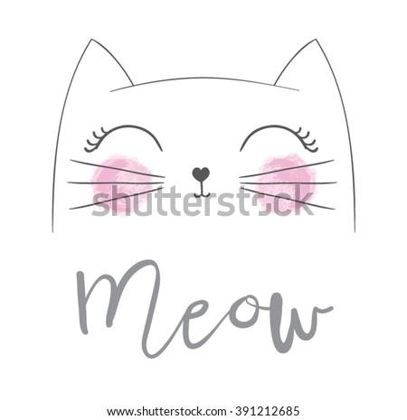 cute cat vector designchildren