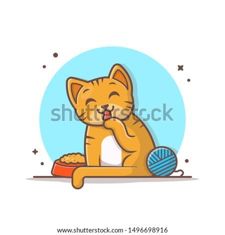 cute cat vector icon