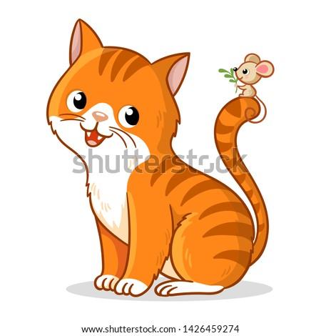 cute cat with a cute little