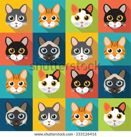 cute cats vector pattern