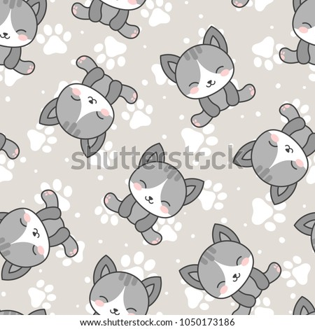 cute cats with kitten paw