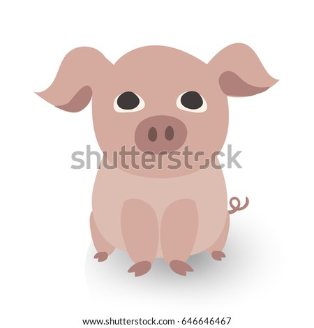 cute character piglet for baby