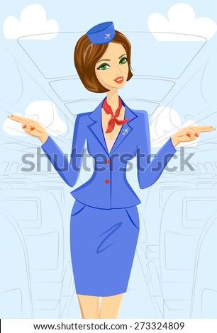 cute cheerful female flight