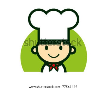 Cute Chef Character logo vector