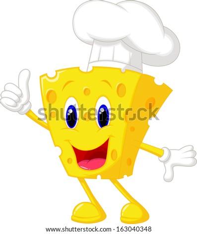 cute chef cheese cartoon giving