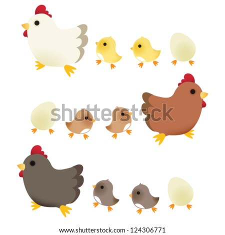 Cute Chicken - Vector File EPS10