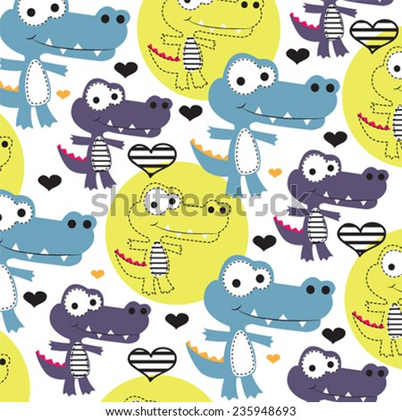 cute childish pattern with