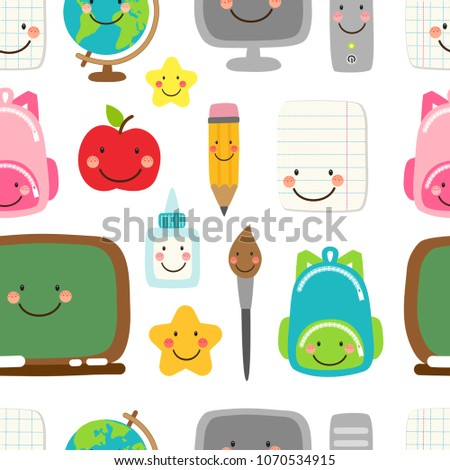 cute childish seamless pattern
