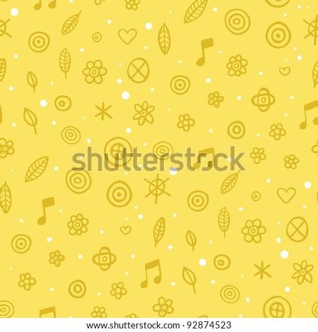 Cute childish yellow pattern