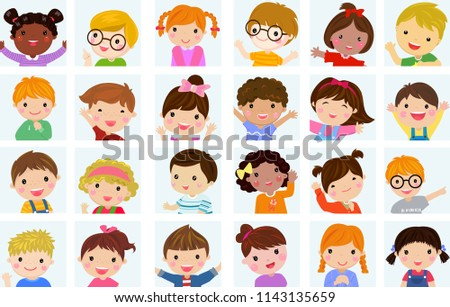 Cute children collection  #1143135659