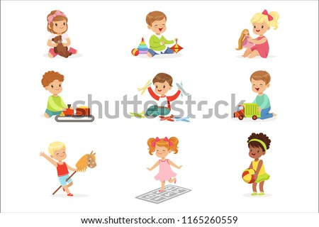 cute children playing with