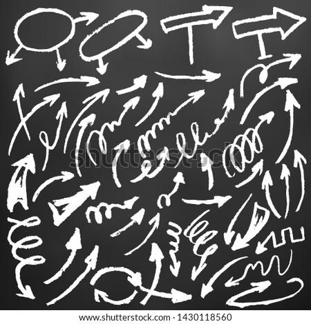 Cute children's drawing. Chalk drawing on blackboard