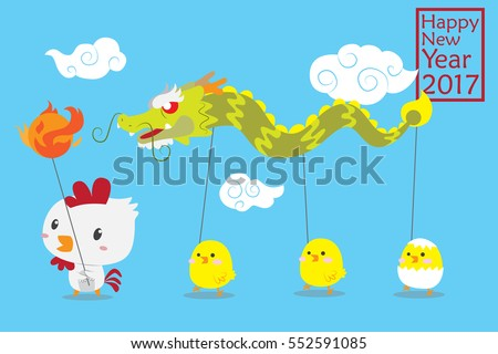 cute chinese dragon dance by
