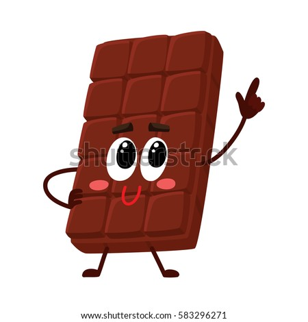 cute chocolate bar character