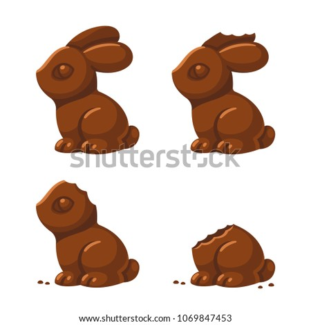 cute chocolate bunny in