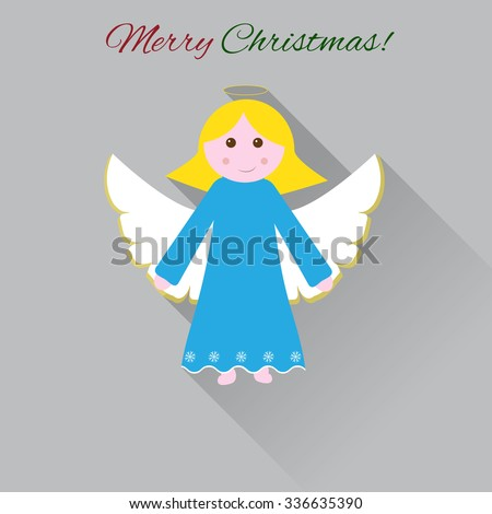 cute christmas angel flat