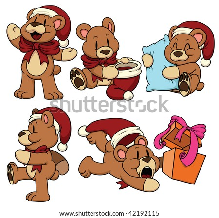 Cute Christmas bears. All in separate layers for easy editing.