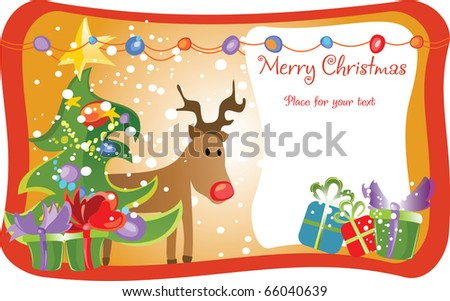 funny deer pictures. card with funny deer