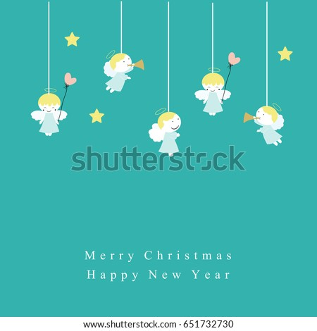 cute christmas card with sweet