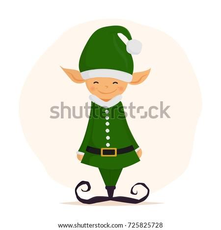 cute christmas elf merry