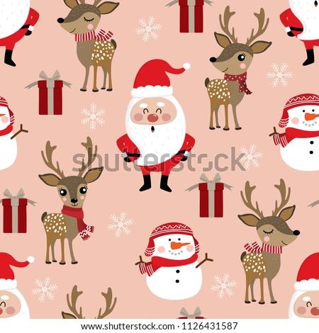 cute christmas holidays cartoon