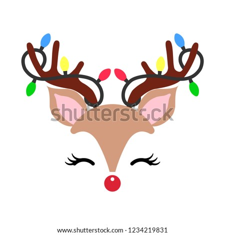 cute christmas red nose