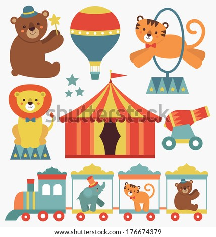 cute circus animals collection
