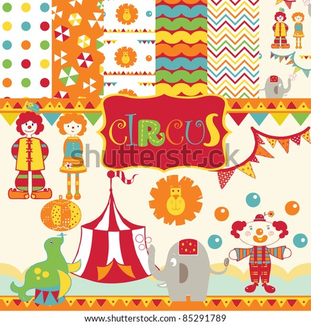Cute Circus party scrapbook
