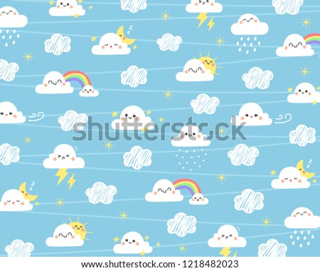 Cute cloud background. Cloud with different moment on sky.