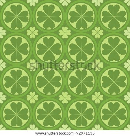 cute clovers pattern