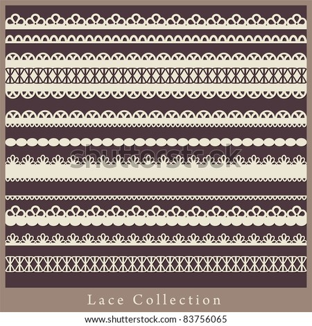 cute collection of lace. vector illustration