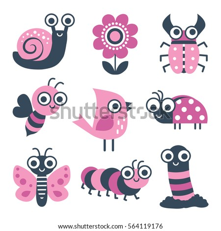 cute collection of vector