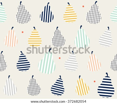 cute colorful abstract pear
