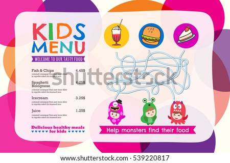 Kids Menu Vector Download Free Vector Art Stock Graphics Images