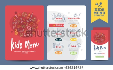 kids menu vector download free vector art stock graphics images