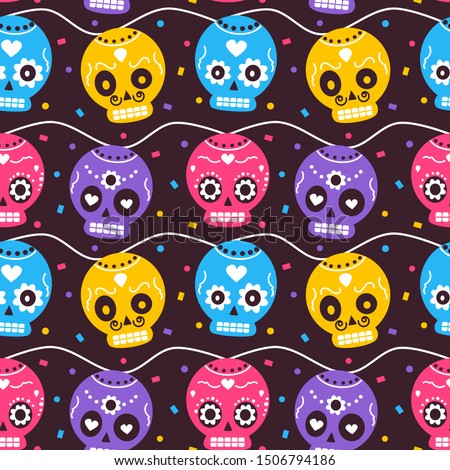 cute colorful mexican dia de